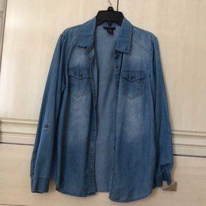 Soft Denim Button Down Shirt